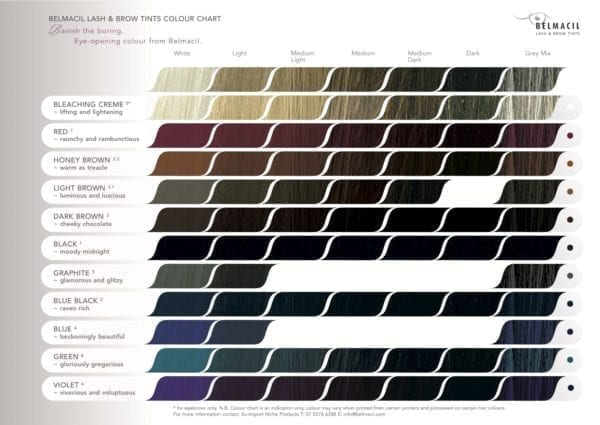 Belmacil Colour Chart